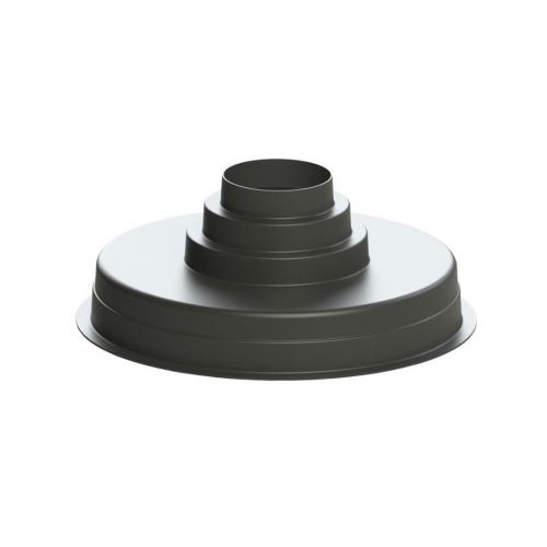 Polymer Plenum Box Black Plastic Finish 530mm Round Multi-spigot 150, 200 & 250mm